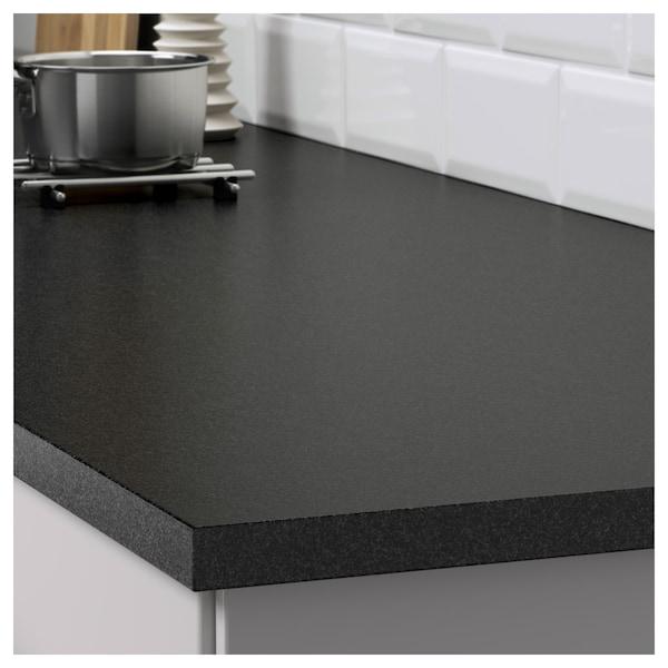 EKBACKEN Radna ploča, crna efekt kamena/laminat, 186x2.8 cm