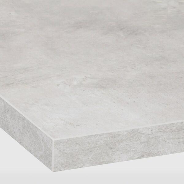 EKBACKEN Radna ploča, svijetlosiva efekt betona/laminat, 246x2.8 cm
