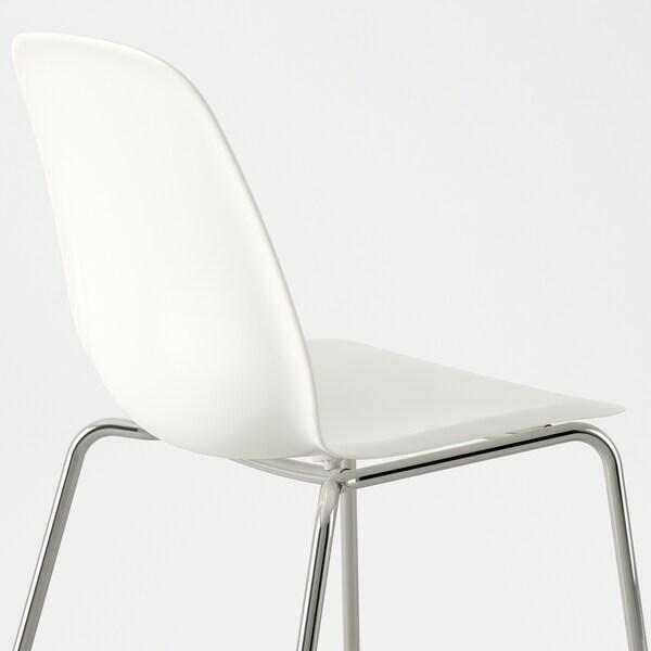 EKEDALEN / LEIFARNE Stol+2 stolice, hrast/bijela, 80/120 cm