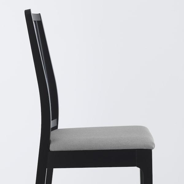 EKEDALEN Stolica, crna/Orrsta svijetlosiva