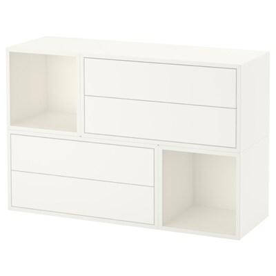 EKET Kombinacija zidnih elemenata, bijela, 105x35x70 cm