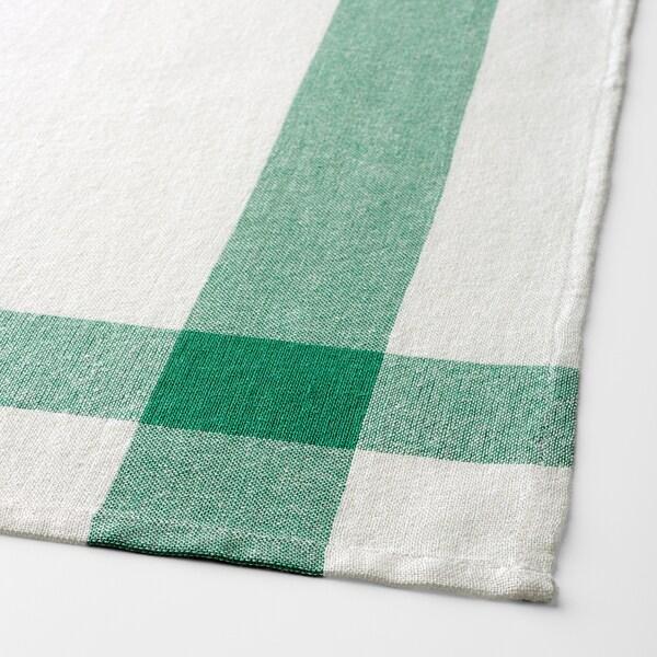 ELLY kuhinjska krpa bijela/zelena 65 cm 50 cm 4 kom