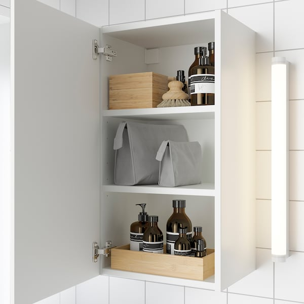 ENHET Element s ogledalom/1 vrata, bijela, 40x32x75 cm