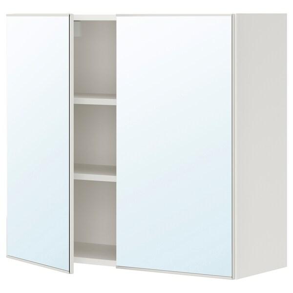 ENHET Element s ogledalom/2 vrata, bijela, 80x30x75 cm