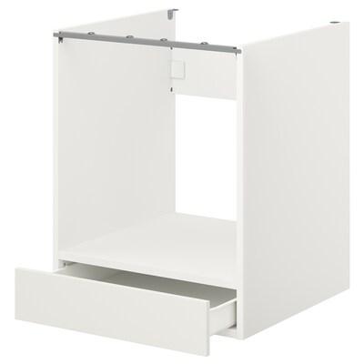 ENHET Pod elem za pećnicu s ladicom, bijela, 60x60x75 cm