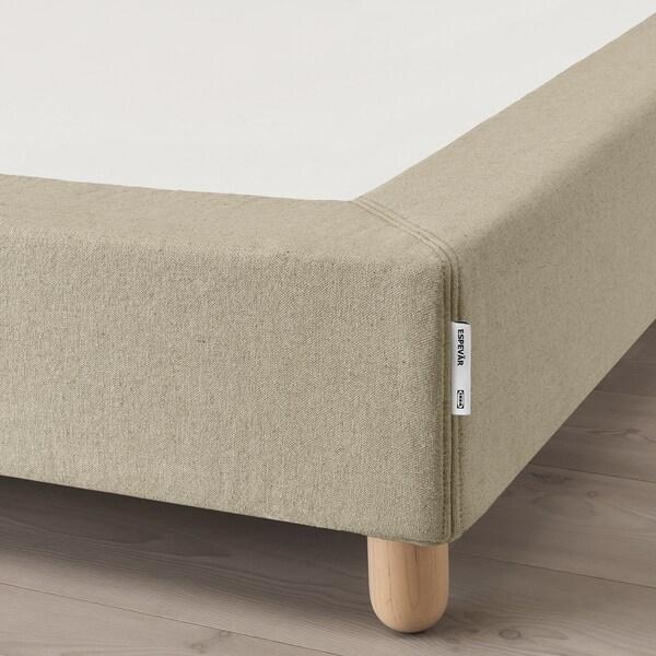 ESPEVÄR Osnova opružnog madraca s nogama, prirodna boja, 90x200 cm