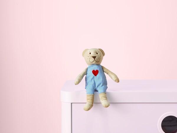 FABLER BJÖRN Plišana igračka, bež, 21 cm