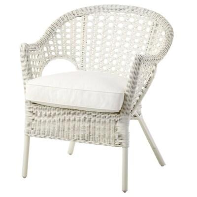 FINNTORP / DJUPVIK Fotelja+ukrasni jastuk, bijela