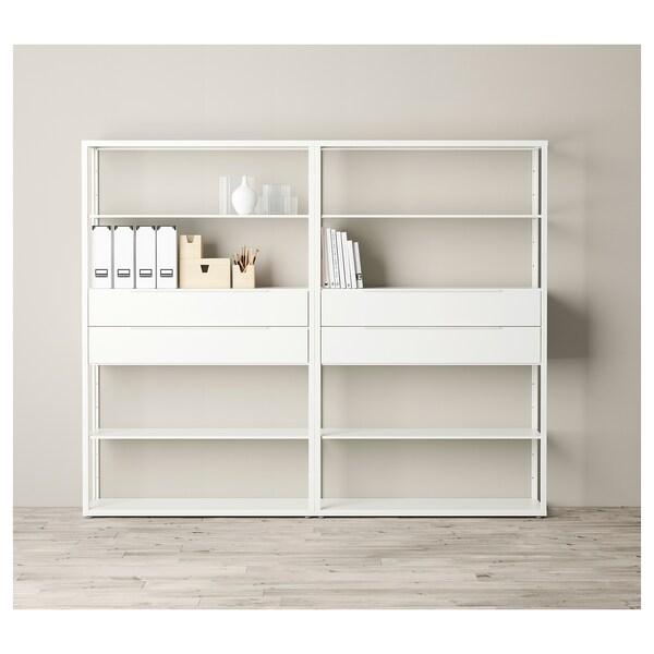 FJÄLKINGE Regal+ladice, bijela, 236x35x193 cm