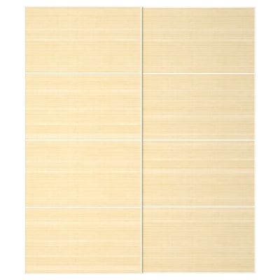 FJELLHAMAR Par kliznih vrata, svijetli bambus, 200x236 cm