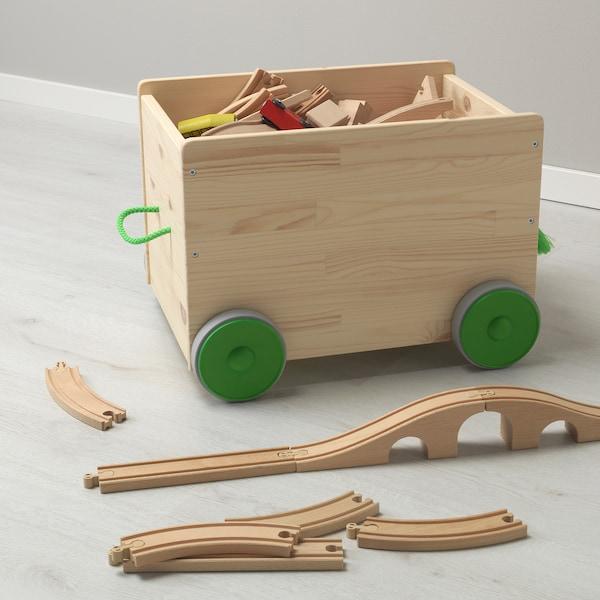 FLISAT sanduk za igračke na kotače 44 cm 39 cm 31 cm