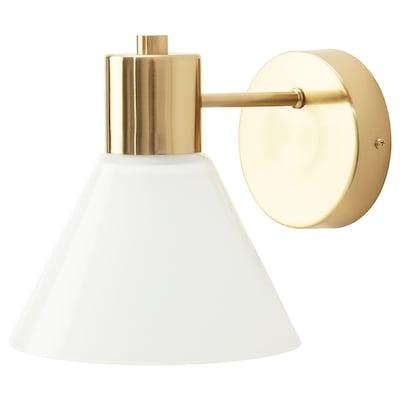 FLUGBO Zidna lampa, umrežena, boja mjeda/staklo