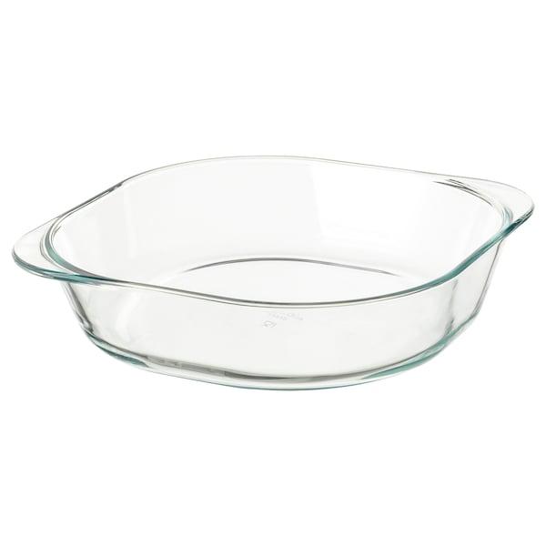 FÖLJSAM Posuda za pečenje, prozirno staklo, 24.5x24.5 cm