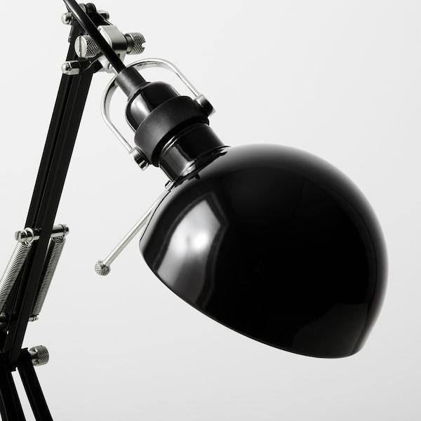 FORSÅ radna lampa crna 40 W 35 cm 15 cm 12 cm 1.8 m