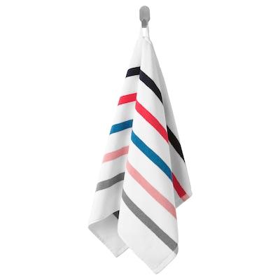 FOSKÅN Ručnik za ruke, bijela/višebojno, 50x100 cm