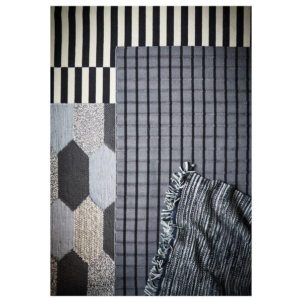 FOULUM tepih, ravno tkanje ručno izrađeno siva/crna 240 cm 170 cm 7 mm 4.08 m² 2225 g/m²