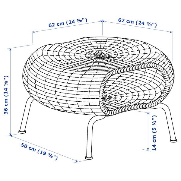 GAMLEHULT Podnožnik+odlaganje, ratan/antracit