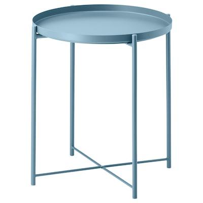 GLADOM Stol/poslužavnik, plava, 45x53 cm