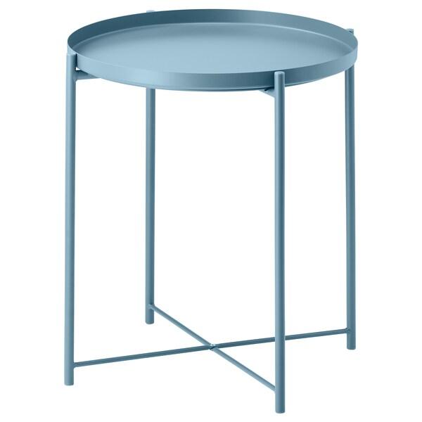 GLADOM stol/poslužavnik plava 53 cm 45 cm