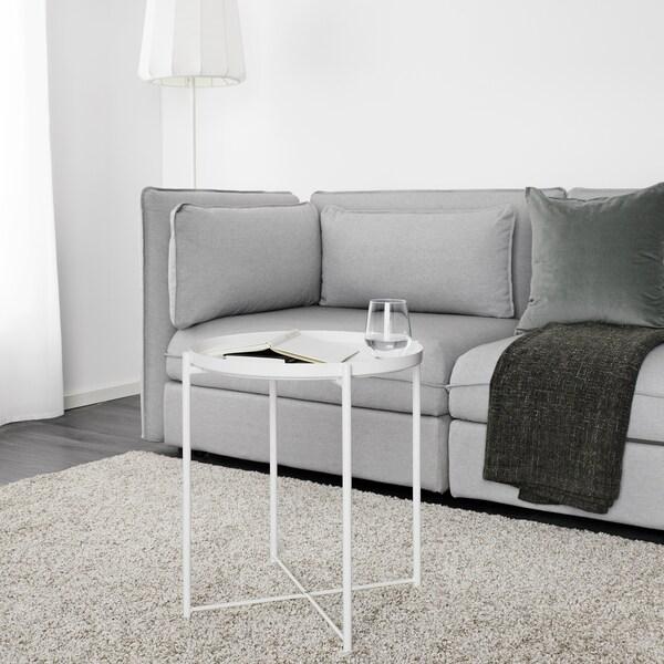 GLADOM stol/poslužavnik bijela 53 cm 45 cm
