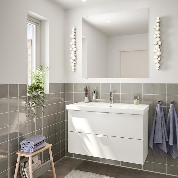 GODMORGON / ODENSVIK kupaonski namještaj, 4 kom. bijela/Dalskär miješalica za vodu 103 cm 60 cm 49 cm 89 cm