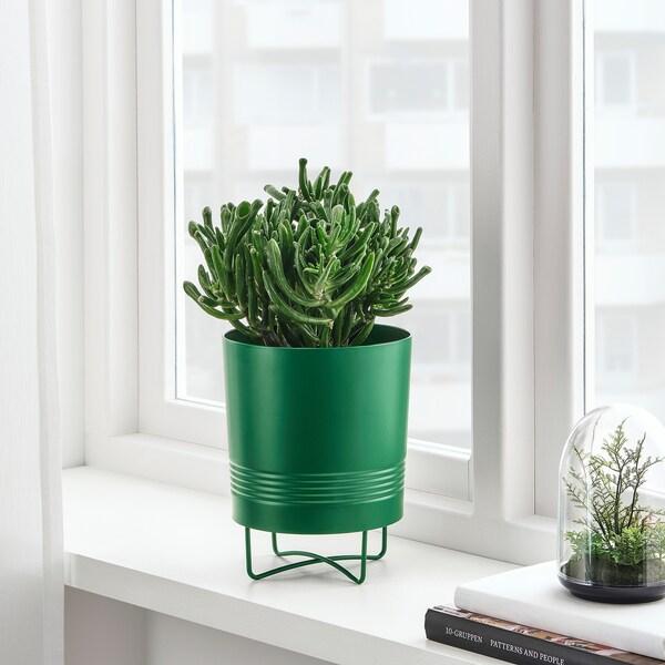 GRANATÄPPLE tegla za biljke+stalak u zatvorenom/na otvorenom tamnozelena 21 cm 17 cm 15 cm 16 cm
