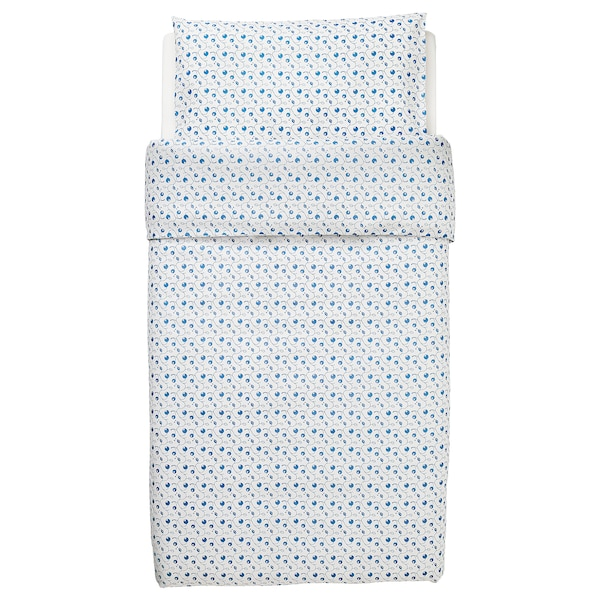 GULSPARV Navl za poplun/jastuč,krevetić, uzorak s borovnicama, 110x125/35x55 cm