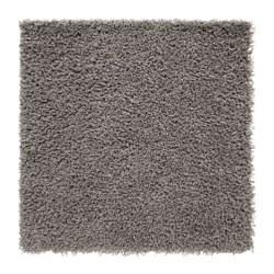HAMPEN  tepih, visoki flor, 80x80 cm, siva