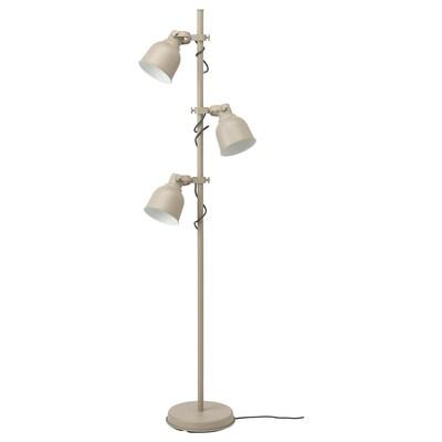 HEKTAR podna lampa, 3 reflektora bež 25.8 W 176 cm 30 cm 16 cm 2.6 m