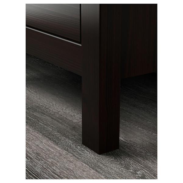 HEMNES Komoda s 2 ladice, crno-smeđa, 54x66 cm