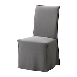 HENRIKSDAL navlaka za stolicu, duga, Risane siva