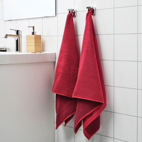 HIMLEÅN Ručnik za ruke, tamnocrvena/melanž, 50x100 cm