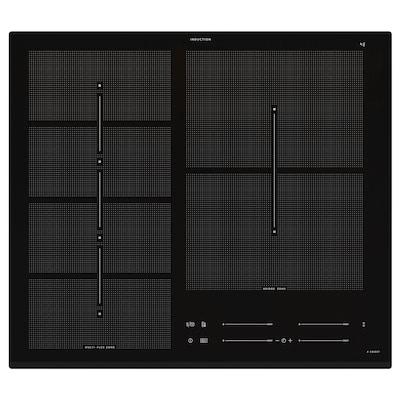 HÖGKLASSIG Indukcijsko kuhalište, IKEA 700 crna, 59 cm