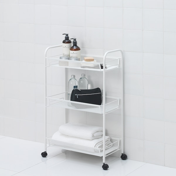 HORNAVAN Kolica, bijela, 26x48x77 cm