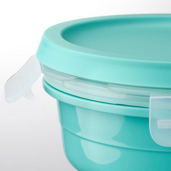 IKEA 365+ Kutija za ručak s odjelj z suh hran, okruglo tirkizna, 450 ml