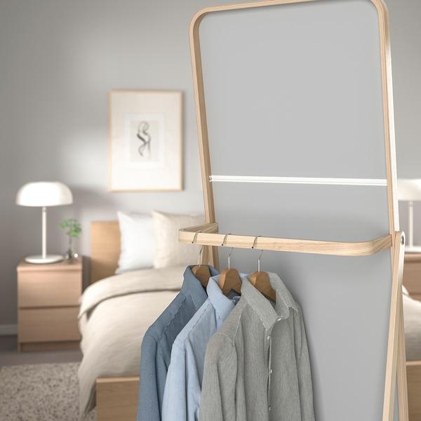 IKORNNES Ogledalo, stojeće, jasen, 52x167 cm
