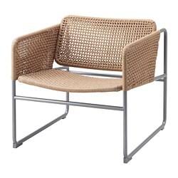 INDUSTRIELL  fotelja, prirodna boja/siva