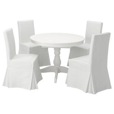 INGATORP / HENRIKSDAL stol+4 stolice bijela/Blekinge bijela 155 cm 74 cm 110 cm