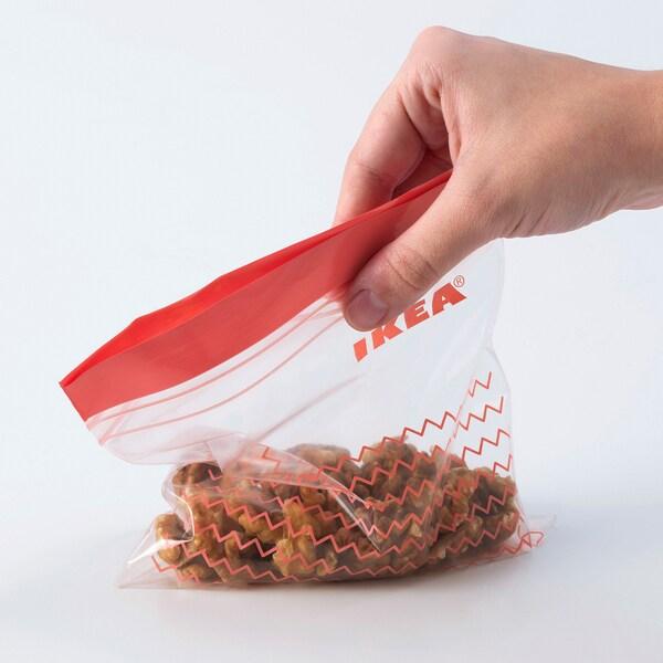 ISTAD Plastična vrećica sa zatvaračem, crvena