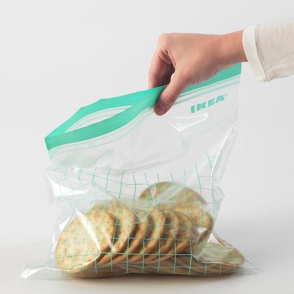 ISTAD Plastična vrećica sa zatvaračem, tirkizna/svijetlotirkizna