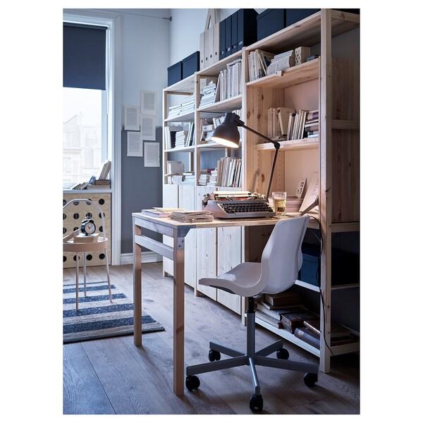 IVAR Regal sa stolom/elementima/policama, bor, 259x30-104x179 cm