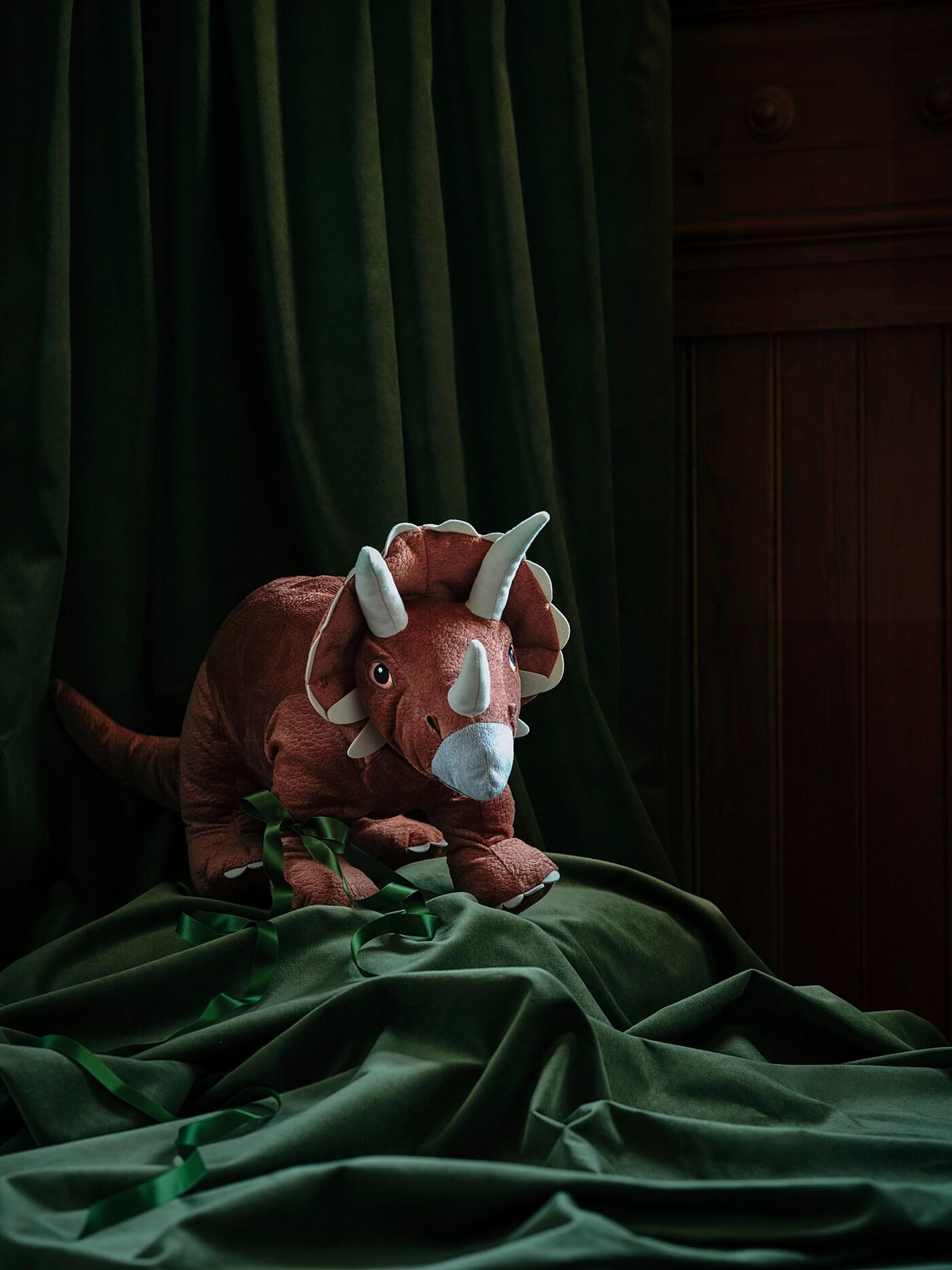 JÄTTELIK Plišana igračka, dinosaur/Triceratops, 69 cm