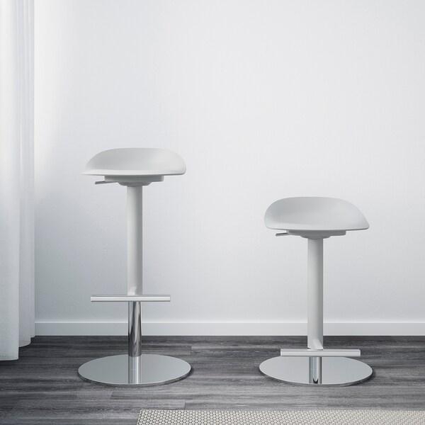 JANINGE Barski stolac, siva, 76 cm