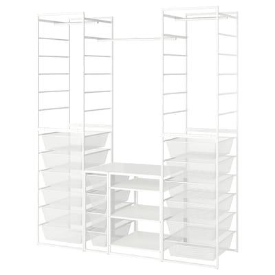JONAXEL Okv/mrež koš/šipk odj/regal, bijela, 173x51x207 cm