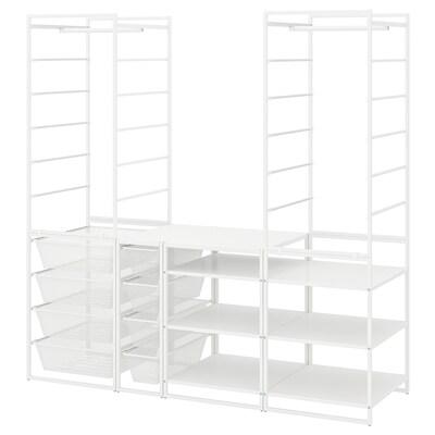 JONAXEL Okv/mrež koš/šipk odj/regal, bijela, 173x51x173 cm
