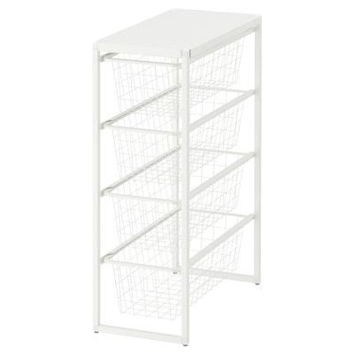 JONAXEL Okvir/žič koš/gor pol, bijela, 25x51x70 cm