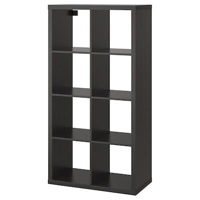 KALLAX Regal, crno-smeđa, 77x147 cm