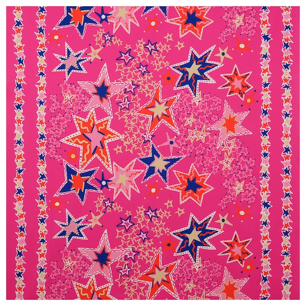 KARISMATISK Prethod odrezana tkanina, razni uzorci roza/plava, 150x300 cm