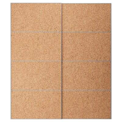 KIRKENES Par kliznih vrata, pluteni furnir, 200x236 cm