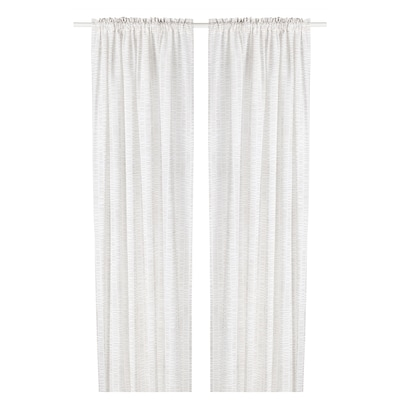 KLÖVERALM Zavjese, 1 par, bijela/bež, 145x300 cm